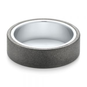 White Tungsten Carbide Men's Wedding Band