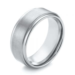 White Tungsten Men's Wedding Ring