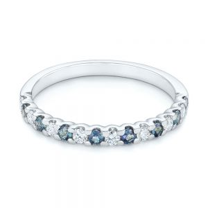 Alexandrite and Diamond Wedding Band