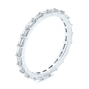 Baguette Diamond Eternity Wedding Band - Image