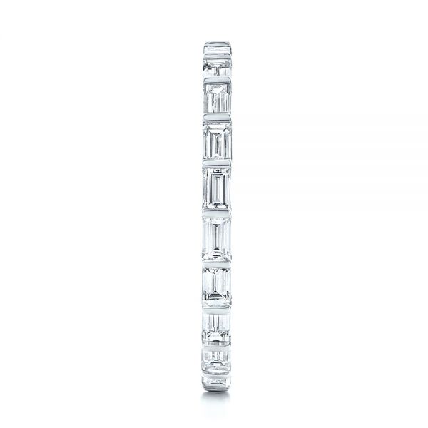 14k White Gold Baguette Diamond Eternity Wedding Band - Side View -  105865