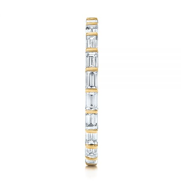 18k Yellow Gold 18k Yellow Gold Baguette Diamond Eternity Wedding Band - Side View -  105865