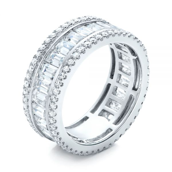 Baguette and Round Diamond Eternity Band - Image