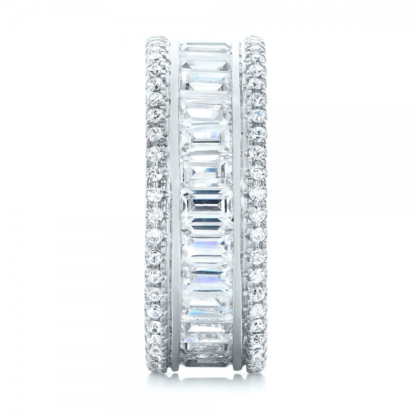 Baguette and Round Diamond Eternity Band - Side View