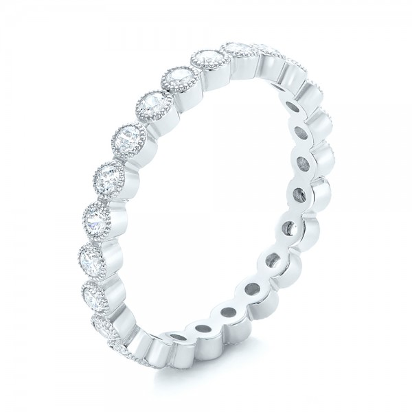 White Gold Stackable Diamond Eternity Band