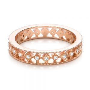 Bezel Set Diamond Stackable Eternity Band