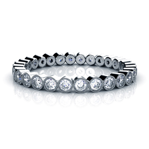Bezel Set Diamond Women's Anniversary Band