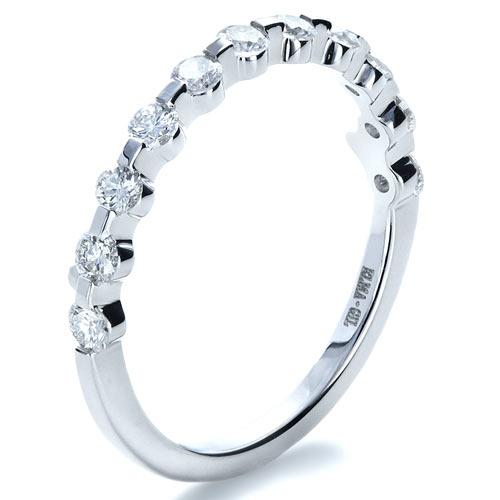bezel set diamond womens wedding band