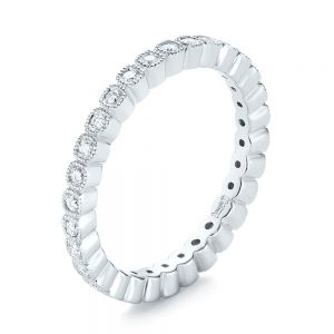 Bezel Set Diamond Eternity Wedding Band - Image