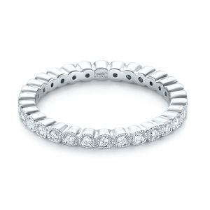 Bezel Set Diamond Eternity Wedding Band