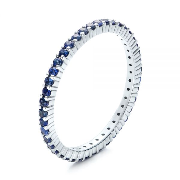 Blue Sapphire Stackable Eternity Band - Image