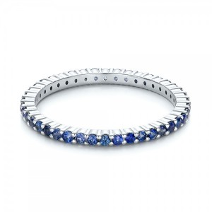Blue Sapphire Stackable Eternity Band