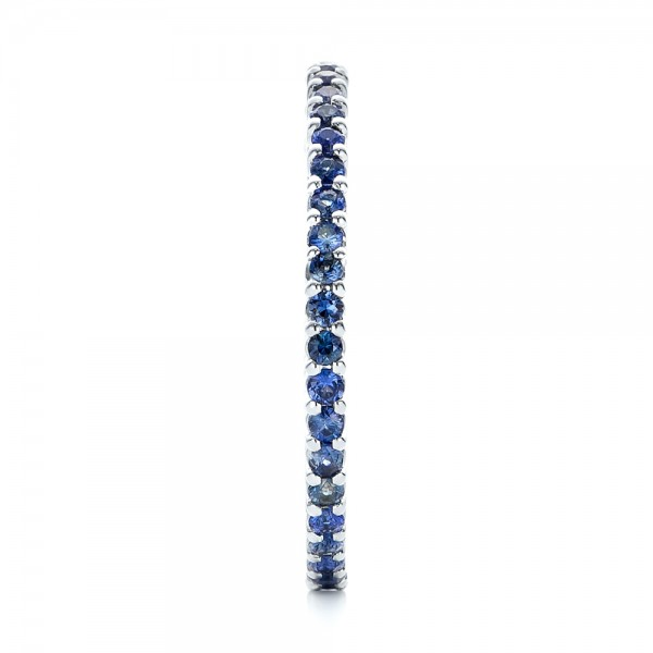 Blue Sapphire Stackable Eternity Band - Side View -  101928 - Thumbnail
