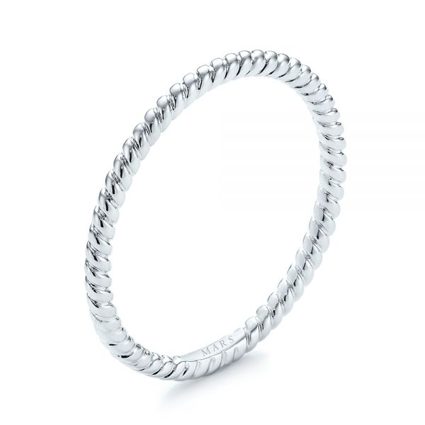 Braided Women's Wedding Band - Image