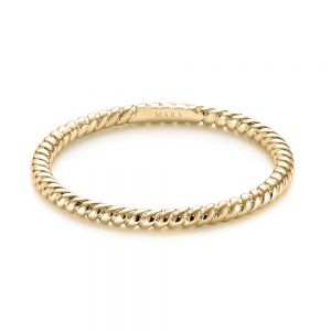 Braided Women's Wedding Band