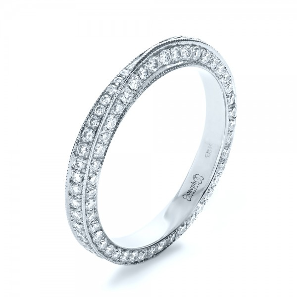 Bright Cut Diamond Eternity Band