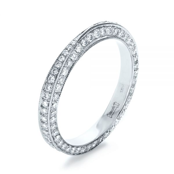 Bright Cut Diamond Eternity Band - Image