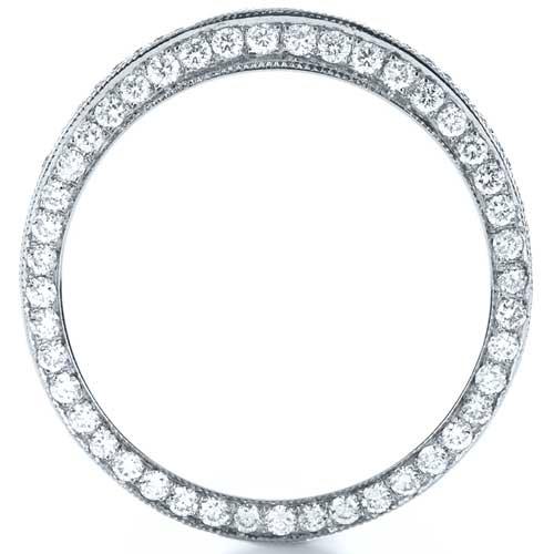 Bright Cut Diamond Eternity Band - Finger Through View