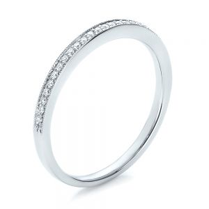 Bright Cut Diamond Wedding band - Image