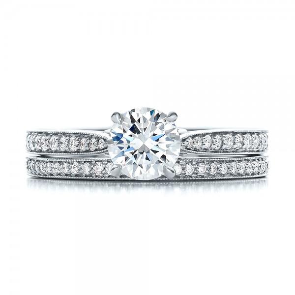 Bright Cut Diamond Wedding band - Top View