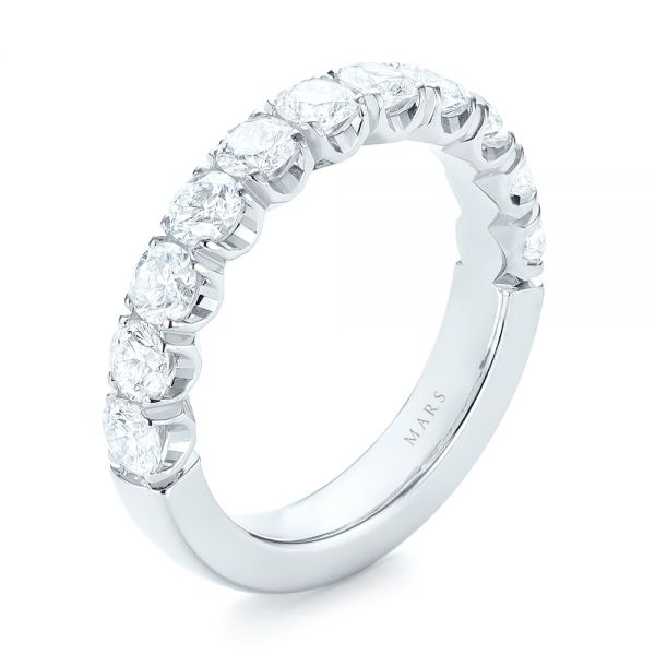 Brilliant Facet Split-prong Diamond Wedding Band - Image