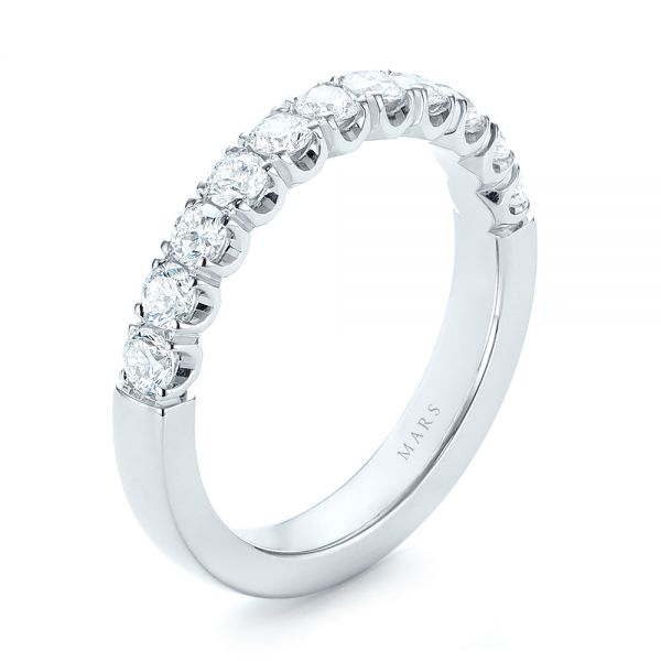 Brilliant Faceted Split-prong Diamond Wedding Band