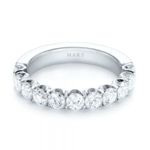 Brilliant Facet Split-prong Diamond Wedding Band
