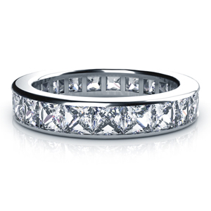 Channel Princess Cut Diamond Women's Anniversary Band
