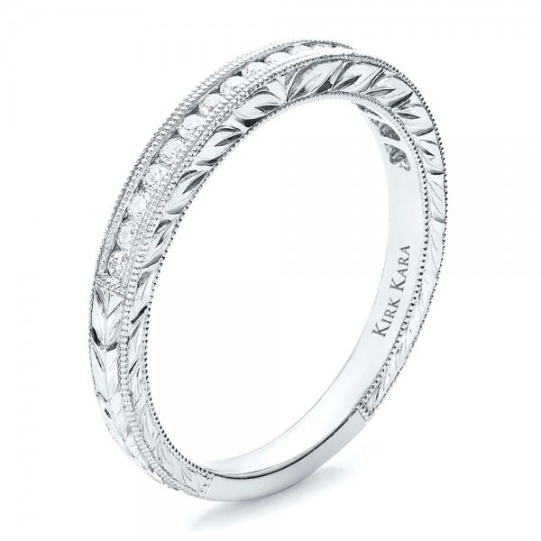 Channel Set Diamond Band with Matching Engagement Ring - Kirk Kara - Image