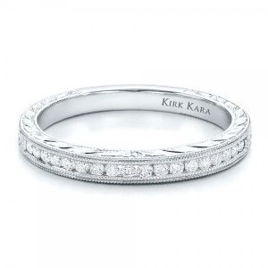 Channel Set Diamond Band with Matching Engagement Ring - Kirk Kara