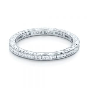 Channel Set Diamond Stackable Eternity Band
