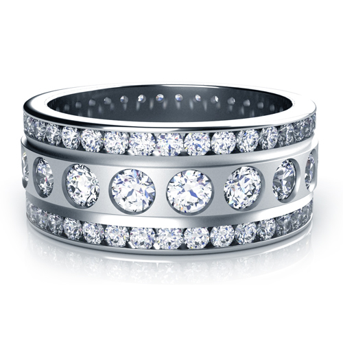 Channel Set Diamond Women's Anniversary Band