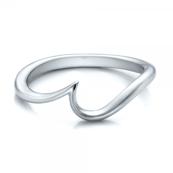 women 39 s wedding rings contemporary curved white gold wedding band