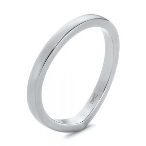 Contoured Black Rhodium Wedding Band - Image
