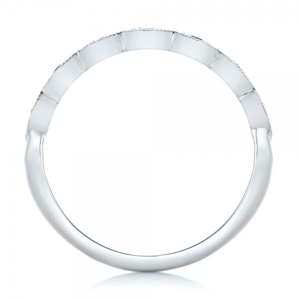 Custom Amethyst Wedding Band - Finger Through View