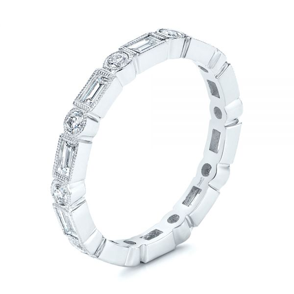 Custom Baguette Diamond Eternity Wedding Band - Image