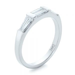 Custom Baguette Diamond Wedding Band - Image