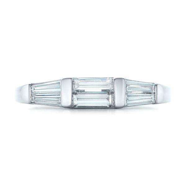 6568684ab12207 ... Custom Baguette Diamond Wedding Band - Top View - 102270 - Thumbnail ...