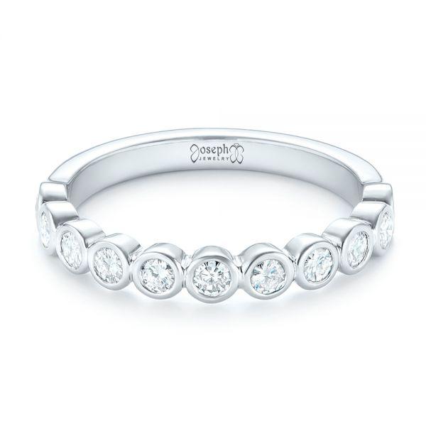 Custom Bezel Set Diamond Wedding Band #102474 - Seattle Bellevue ...