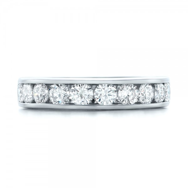 Custom Channel Set Diamond Anniversary Band - Top View