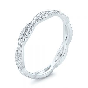 Custom Criss Cross Diamond Wedding Band - Image