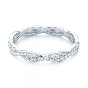 Custom Criss Cross Diamond Wedding Band
