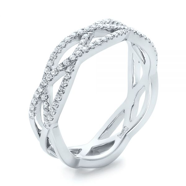 Custom Diamond Criss-Cross Wedding Band