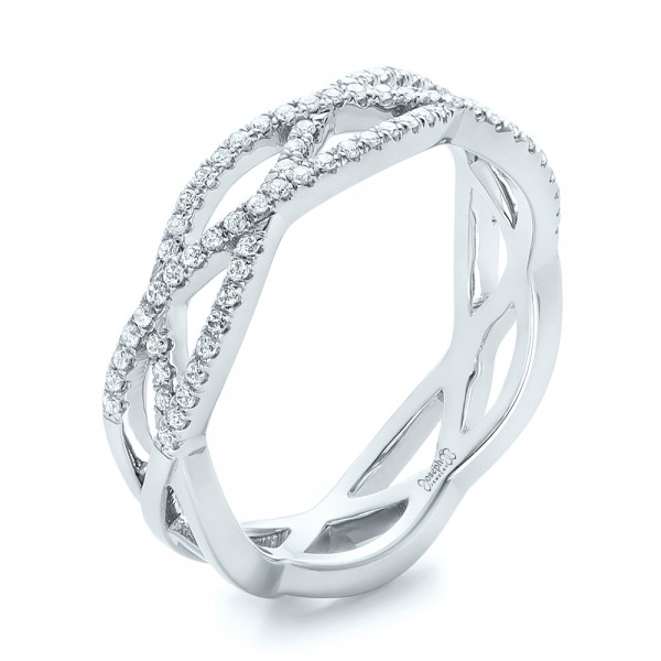 Custom Diamond CrissCross Wedding Band 102233