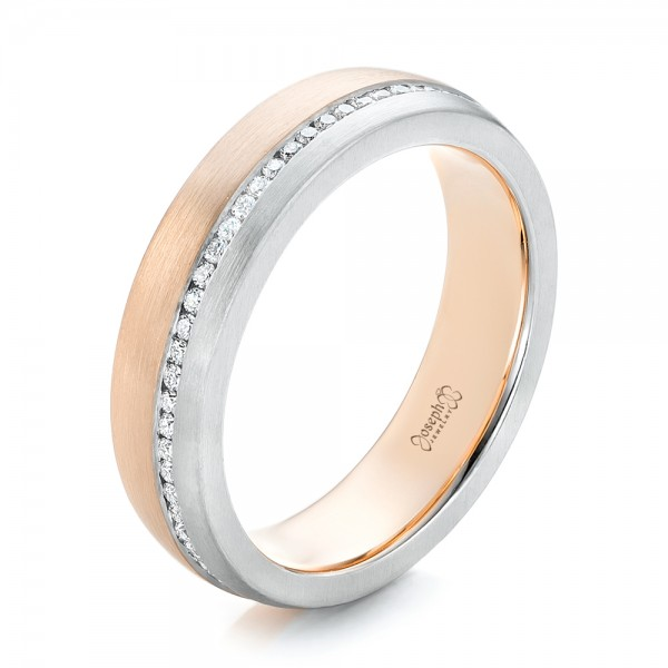 Custom Diamond Eternity Two-Tone Wedding Band