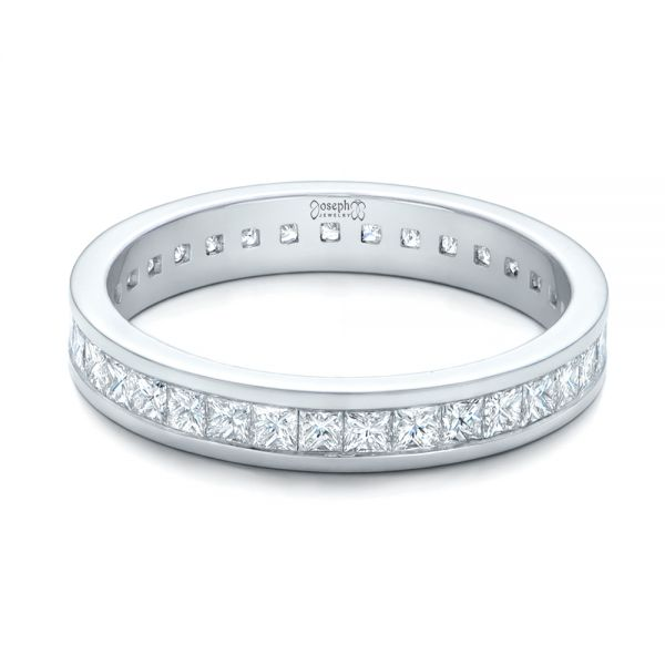 Custom Diamond Eternity Wedding Band - Flat View -  102096 - Thumbnail