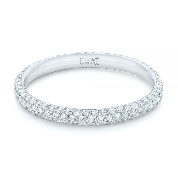 Custom Diamond Eternity Wedding Band - Flat View -  102817 - Thumbnail