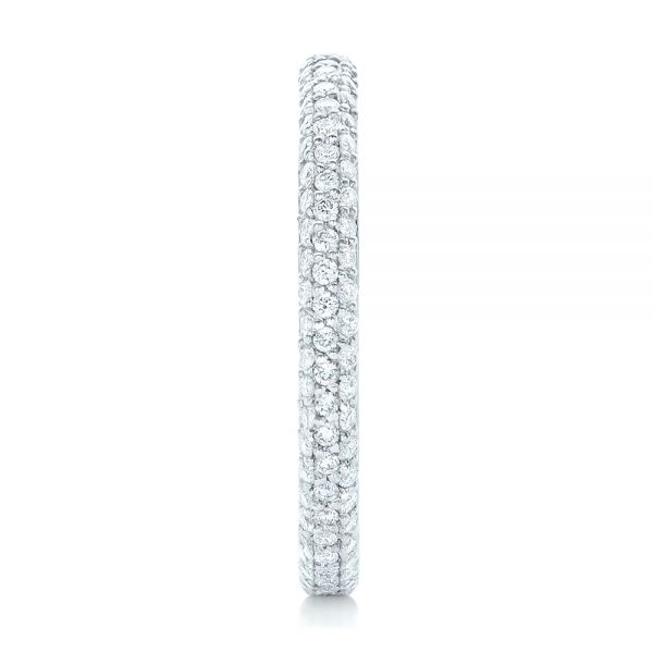 Custom Diamond Eternity Wedding Band - Side View -  102817 - Thumbnail