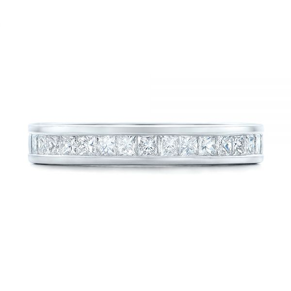 Custom Diamond Eternity Wedding Band - Top View -  102096 - Thumbnail