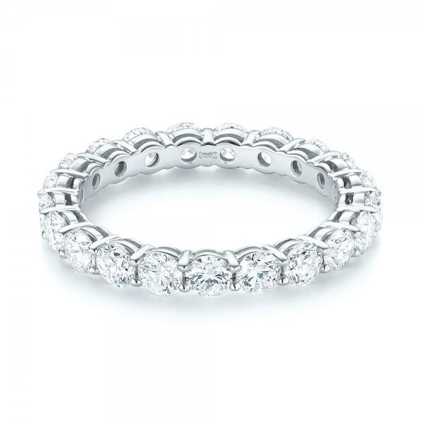 Custom Diamond Eternity Wedding Band - Laying View